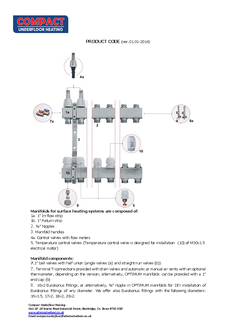 Compact Commercial Manifold Datasheet